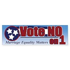 Vote NO on 1 TN Bumper Bumper Stickers