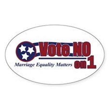 Vote NO on 1 TN Oval Decal