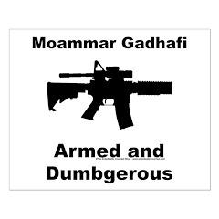 Moammar Ghadafi Small Poster