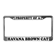 Property Of A Havana Brown Cat License Plate Frame