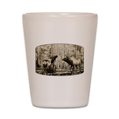 Elk rumble Shot Glass