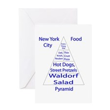 New York City Food Pyramid Greeting Card