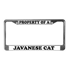 Property Of A Javanese Cat License Plate Frame