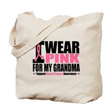 I Wear Pink Ribbon Tote Bag