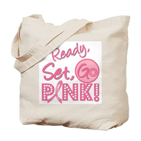 Ready, Set, Go Pink Tote Bag