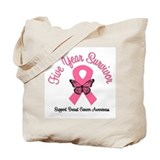 Breast Cancer (5 Yrs) Tote Bag