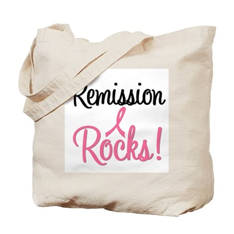 Remission Rocks Breast Cancer Tote Bag