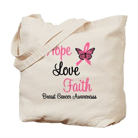 Breast Cancer Hope Tote Bag