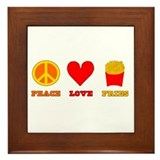 Peace Love Fries Framed Tile