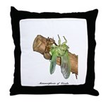 Metamorphosis of Cicadas Throw Pillow