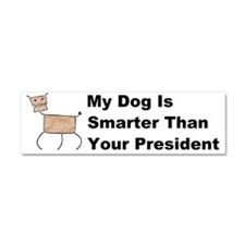 My dog is smarter than your Car Magnet 10 x 3