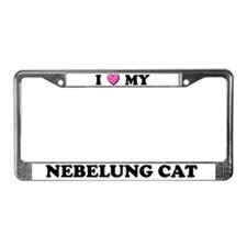 I Heart My Nebelung Cat License Plate Frame