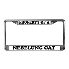 Property Of A Nebelung Cat License Plate Frame