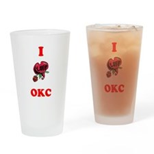 I Love OKC Drinking Glass