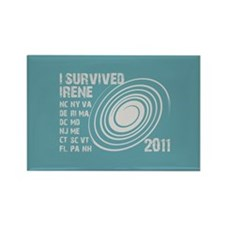 I Survived Irene 2011 Rectangle Magnet