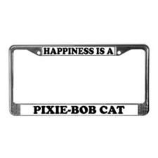 Happiness Is A Pixie-Bob Cat License Plate Frame