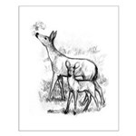 Deer Family Small Poster