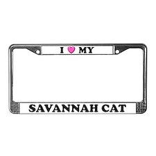 I Heart My Savannah Cat License Plate Frame