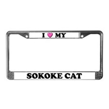 I Heart My Sokoke Cat License Plate Frame