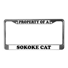 Property Of A Sokoke License Plate Frame