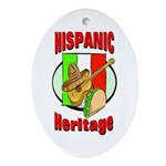 Hispanic Heritage Oval Ornament
