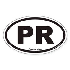 Puerto Rico PR Euro Oval Decal