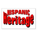 Hispanic Heritage Rectangle Sticker