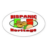 Hispanic Heritage Oval Sticker