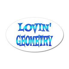 Geometry Love 38.5 x 24.5 Oval Wall Peel