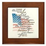 US Pledge - Framed Tile