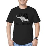 T-Rex Hates Push-Ups Men's Fitted T-Shirt (dark)