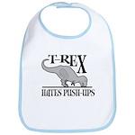 T-Rex Hates Push-Ups Bib