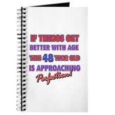 Funny 48th Birthdy designs Journal