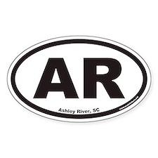 Ashley River South Carolina AR Euro Oval Decal