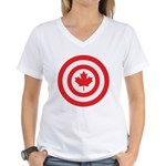 Captain Canada Women's V-Neck T-Shirt
