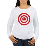 Captain Canada Women's Long Sleeve T-Shirt
