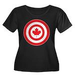 Captain Canada Women's Plus Size Scoop Neck Dark T