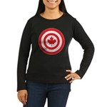 Captain Canada Women's Long Sleeve Dark T-Shirt