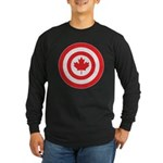 Captain Canada Long Sleeve Dark T-Shirt
