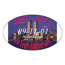 911 10 year anniversary Decal