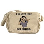 If You Met My Family Messenger Bag
