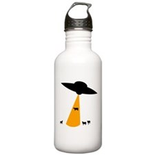 UFO Abducting Cow Water Bottle