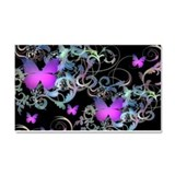 Bright Purple Butterflies Car Magnet 20 x 12