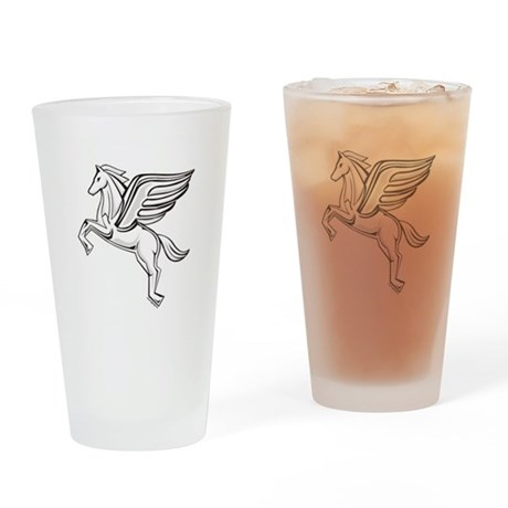 Chasing Pegasus Drinking Glass