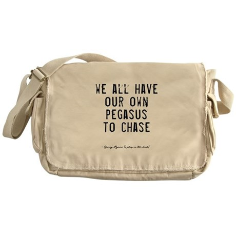 Pegasus Quote Messenger Bag