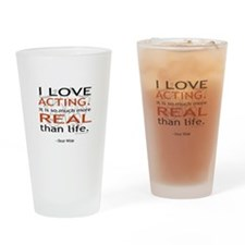 Oscar Wilde Quote on Acting Drinking Glass