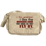 Douglas Adams Deadlines Quote Messenger Bag
