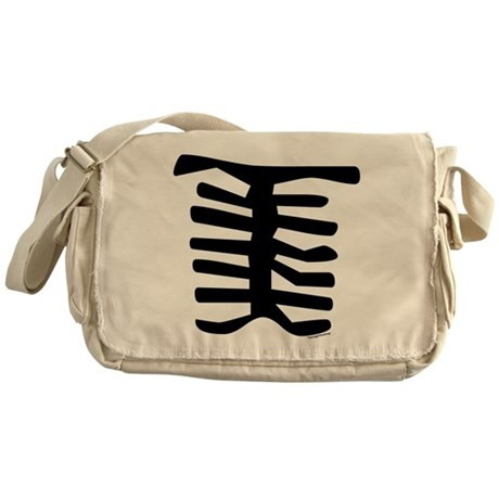 Skeleton Messenger Bag