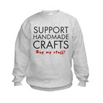 'Support Handmade Crafts' Kids Sweatshirt