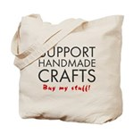 'Support Handmade Crafts' Tote Bag